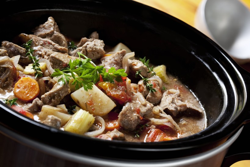 slow cooker beef soup